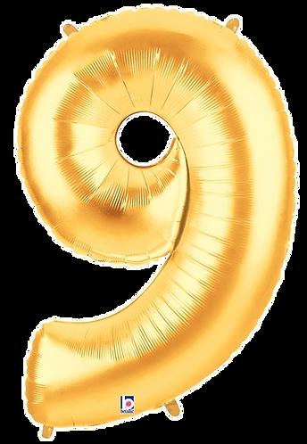 Numeric '9' in Gold