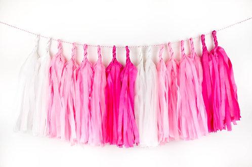 Tassel Frills - Pink Ombre