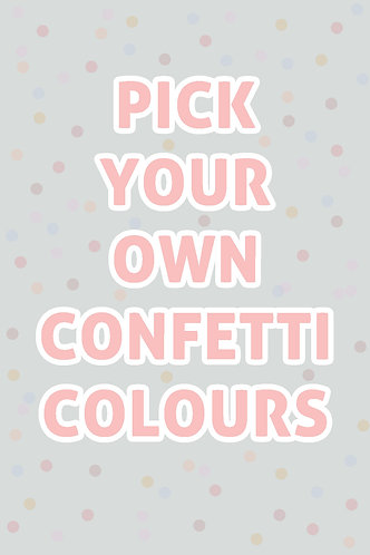 Custom Confetti Balloon /w Metallic Gold, Silver & Rose Gold