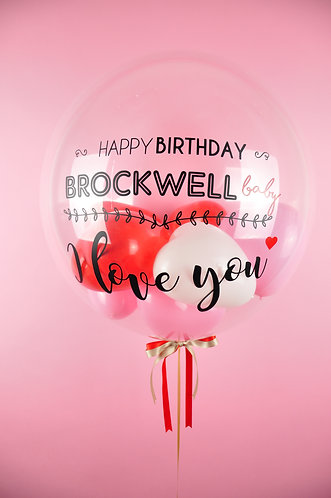 "24"" Personalised Balloon /w Mini ❤ Balloons"