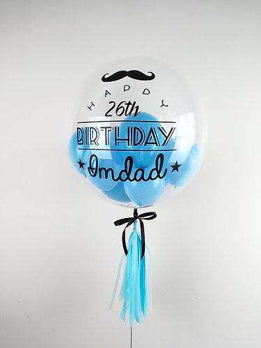 "24"" Personalised Balloon /w Mini Balloons"