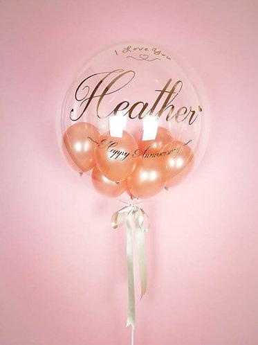 "24"" Personalised Rose Gold Balloon /w Mini Balloons"