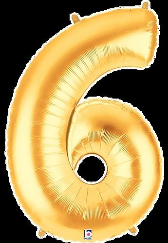 Numeric '6' in Gold