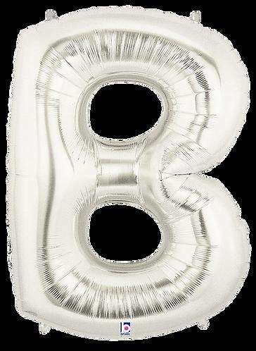 Letter 'B' in Silver