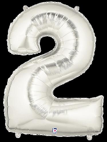 Numeric '2' in Silver
