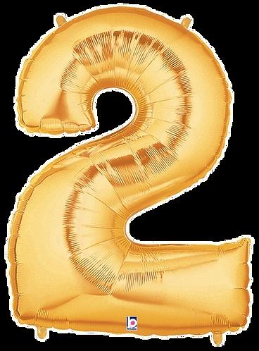 Numeric '2' in Gold