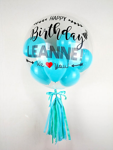 """24"""" Personalised Balloon in Tiffany Blue"""