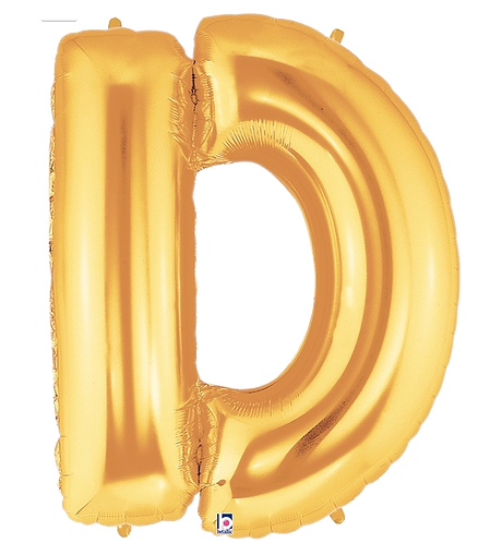 Letter 'D' in Gold