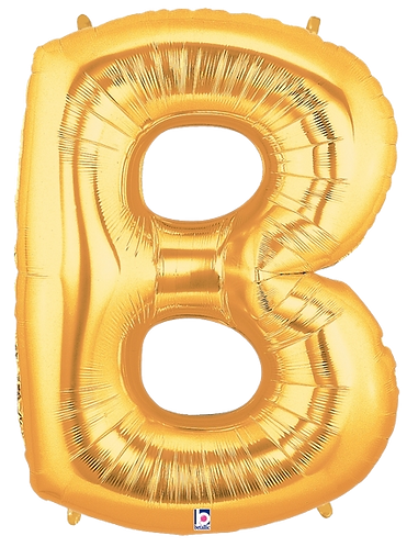 Letter 'B' in Gold