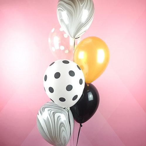 Black Vanilla Balloons