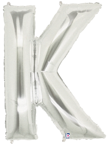 Letter 'K' in Silver