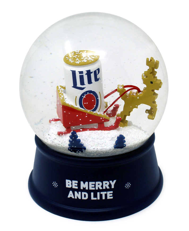 Miller Lite snow globe