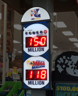 Missouri in-lane jackpot sign in grocery check out lanes