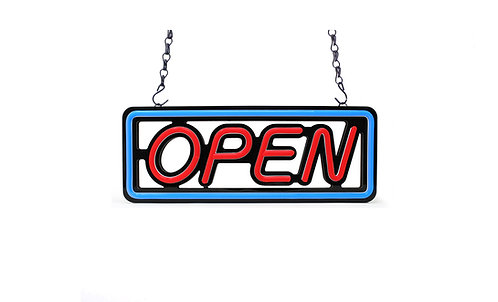 Compact LED Open Sign