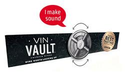 Vin Vault Store Shelf Display