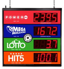 Washington's Lottery Jackpot Sign