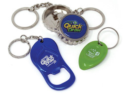 Keychains, bottle openers and scratchers