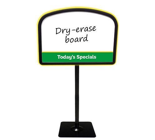 Arched Easel with Today's Specials Dry-Erase Face