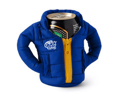 Puffy coat can or bottle coolie