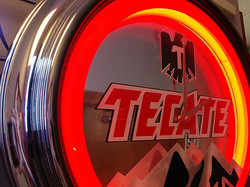Tecate Mirrored Neon Clock