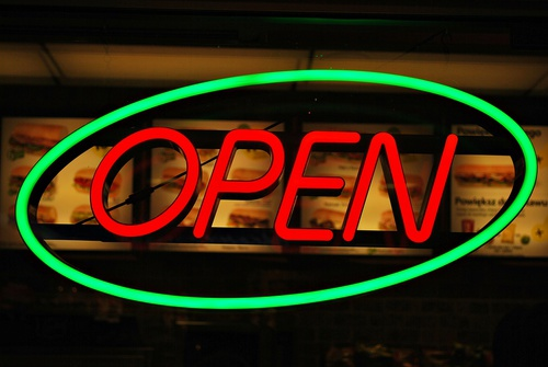 Subway Open Sign