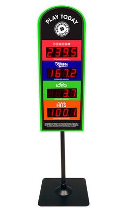 Washington's Lottery Mini Counter Top Jackpot Easel