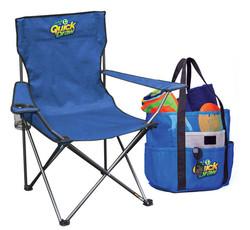 Folding chair and beach bag