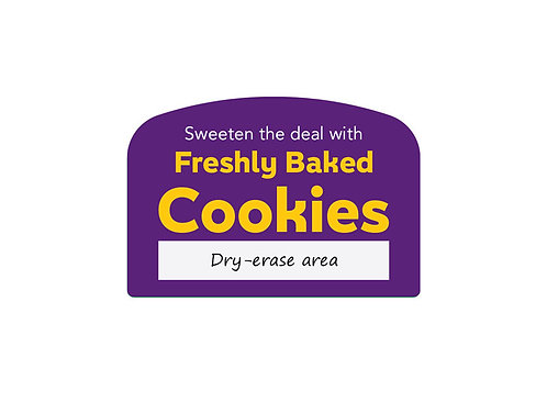 Freshly Baked Cookies Arched Easel Dry-Erase Face (join backorder list)
