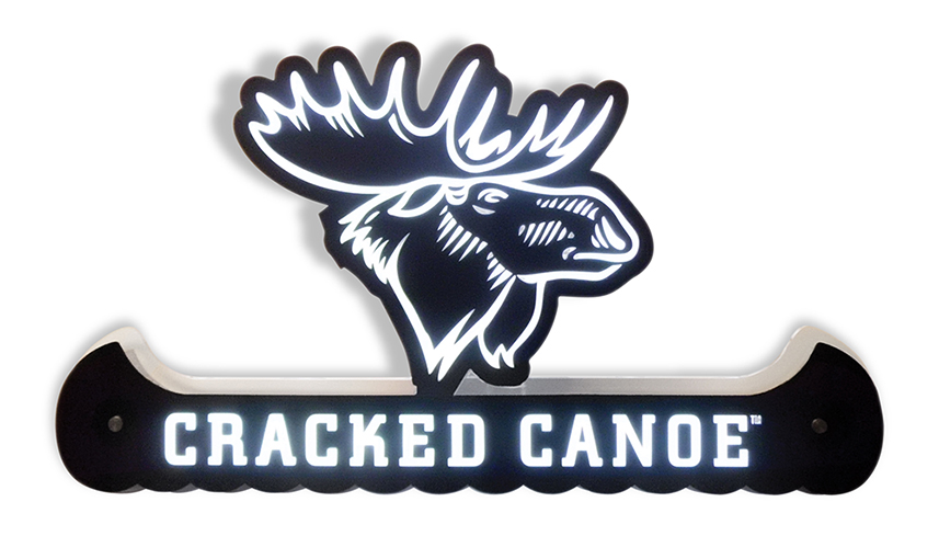 Cracked Canoe LED Sign