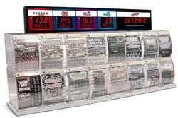 New Jersey ticket dispenser jackpot sign
