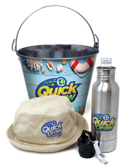 Ice buckets, bucket hat and bottle holder