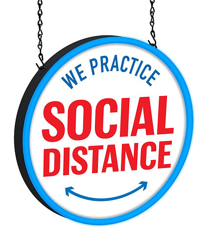 Social Distance LED Sign