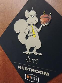 Hop City Restroom Sign