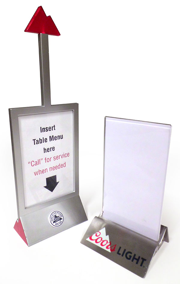 Coors Light Table Menus