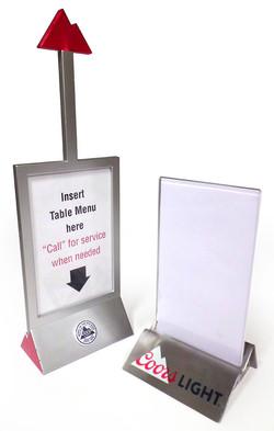 Coors Light Table Menus