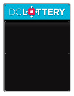 DC lottery illuminated write-on menu board