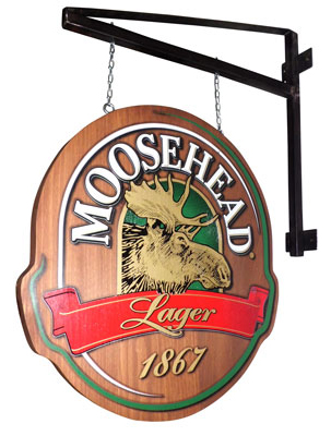 Moosehead Wood Patio Sign