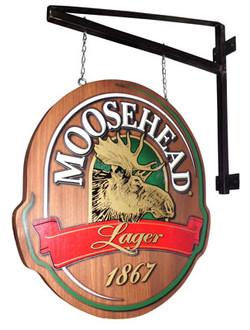 Moosehead Wood Patio Sign