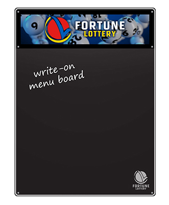 Write-On Menu Board