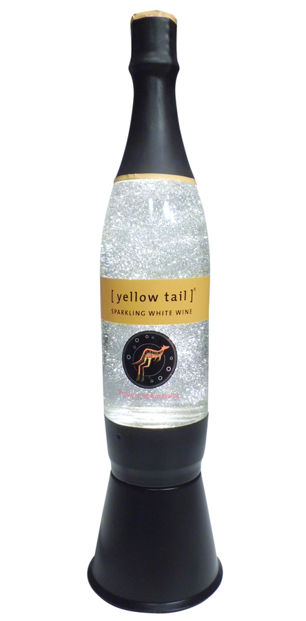 Yellow Tail Glitter Lamp