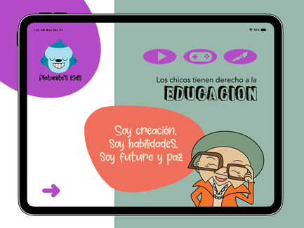 Platanito's Kids  User Experience-Tablet