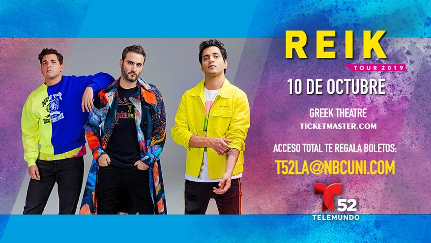 Telemundo  Reik Concert  Tickets Giveaway Web Banner