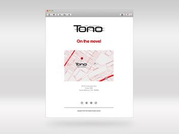 Tono Studios On the Move!  Email campaign