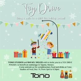 Tono Studios  Toy Drive Instagram feed