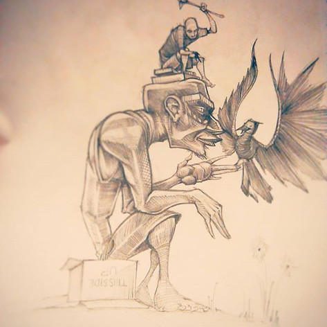 Homunculus and his chariot #numbertwopen