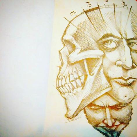 #sketchbook #zodiac #skull #clockwork #c