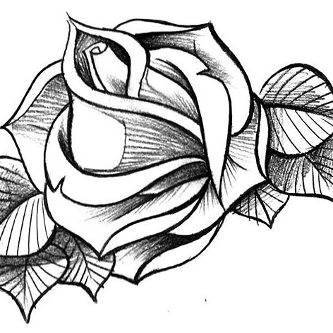 Flash rose tattoo design. Come down to _