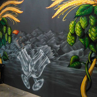 Mural at _temblorbrewing Bakersfield Cal