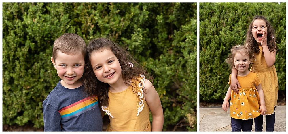 children's portraits, cousin photos, fun kids photos, sister photo poses, cousin photo poses