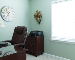 office light teal real estate photo